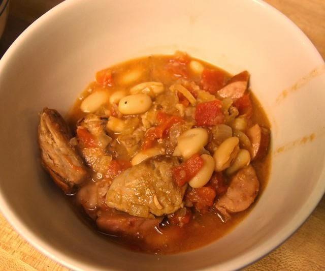 Sunday, recipes for two: Recipe: Quick Pork Cassoulet