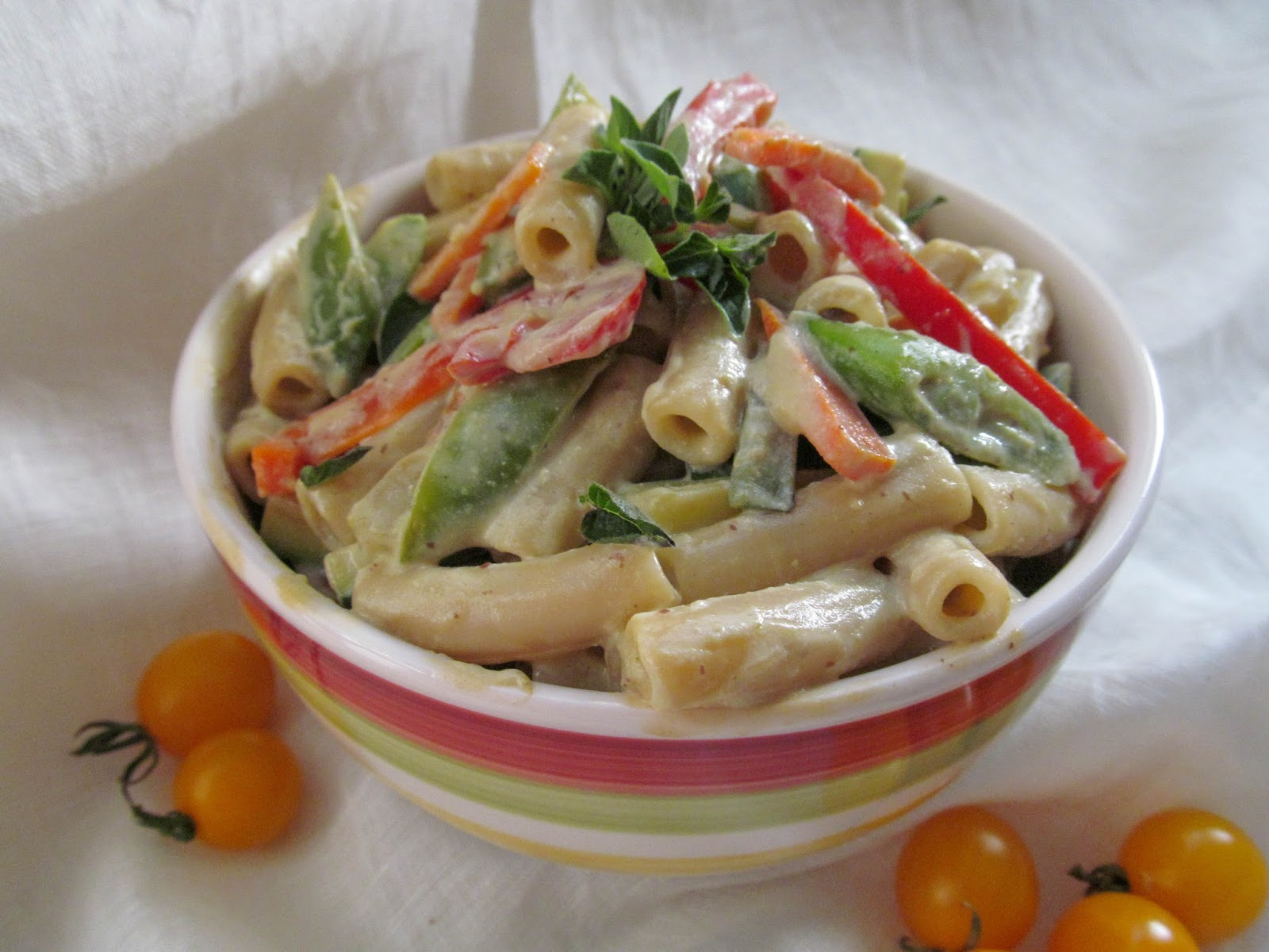 Savory Tofu Pasta Primavera