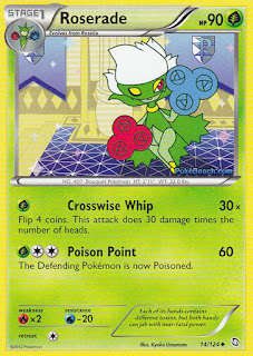 Roserade Dragons Exalted Pokemon Card