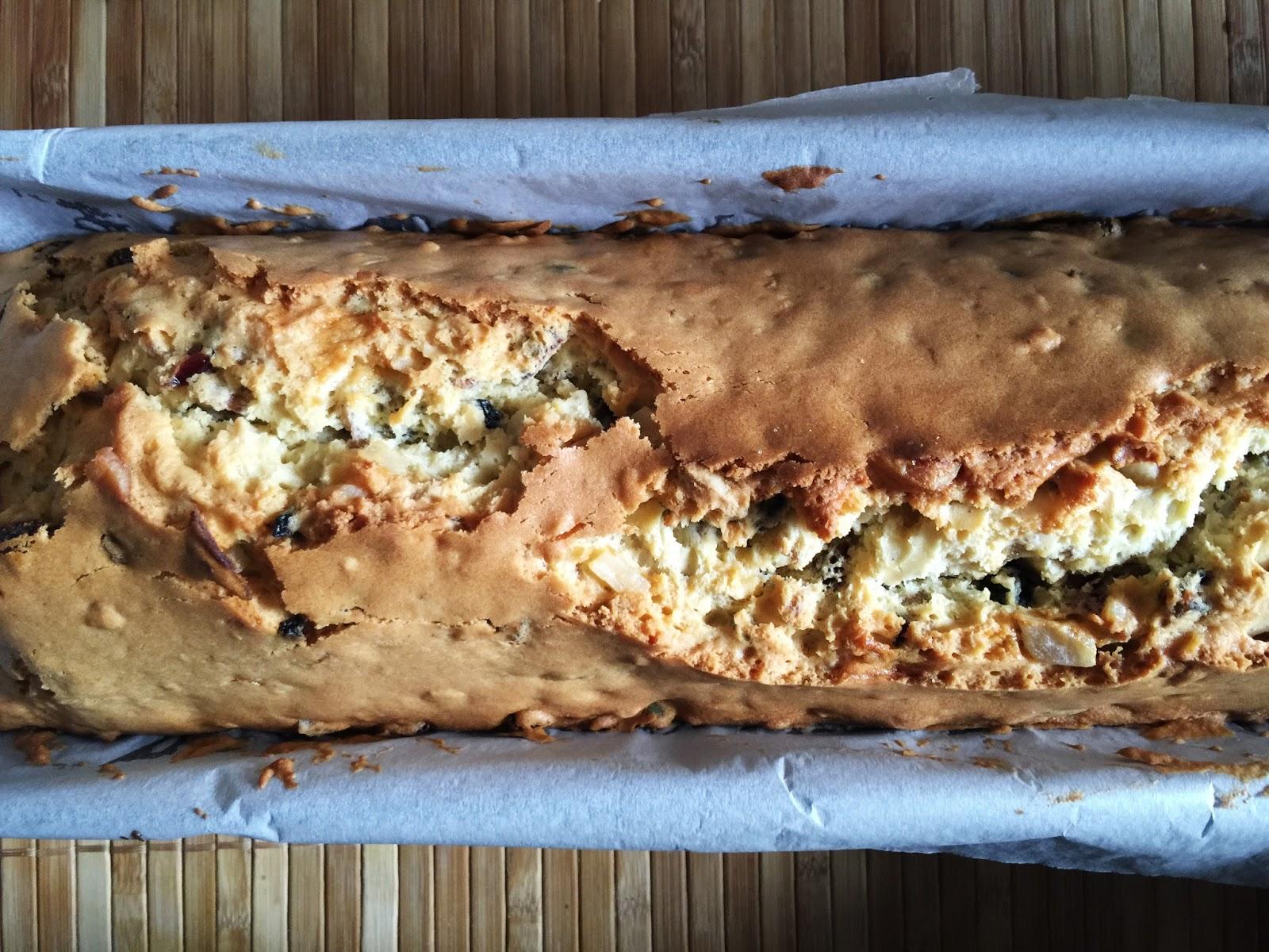 pastel de frutos secos horneado