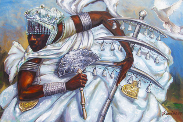 Oxalá, o orixá maior do candomblé e umbanda, representado por Oxalufã, o velho e sábio