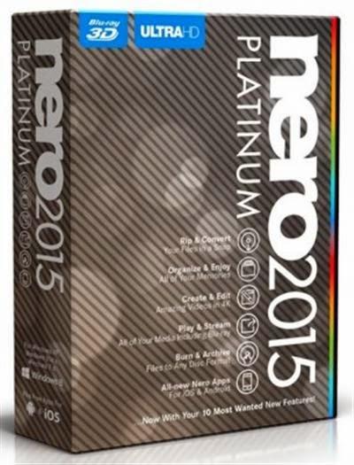 Nero 2015 Platinum 16.0 Final Full Version Inc.Patch Image