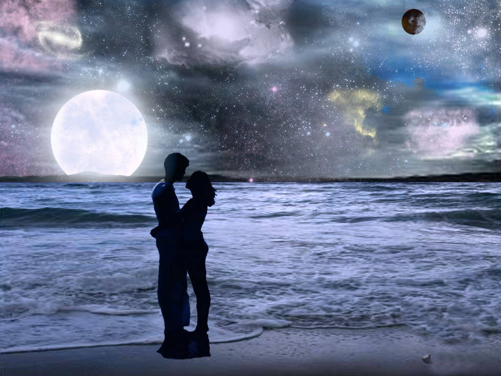 Romantic Couple Love On Beach