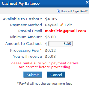 requested 5th payout with clixsense