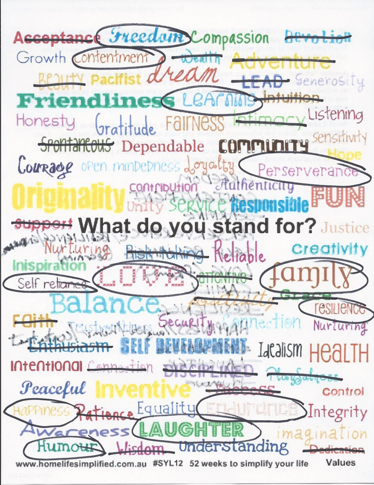 list of moral and social values