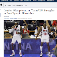 IBT Article : Team USA Struggling in Pre-Olympic Games