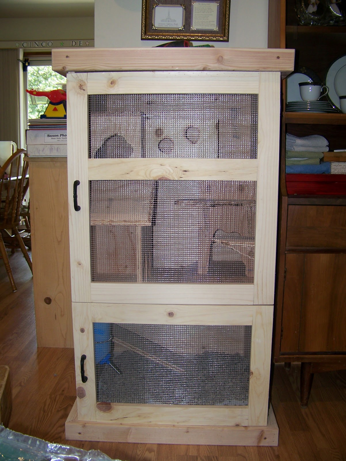Homemade Chinchilla Cages Plans Forrest build this custom cage