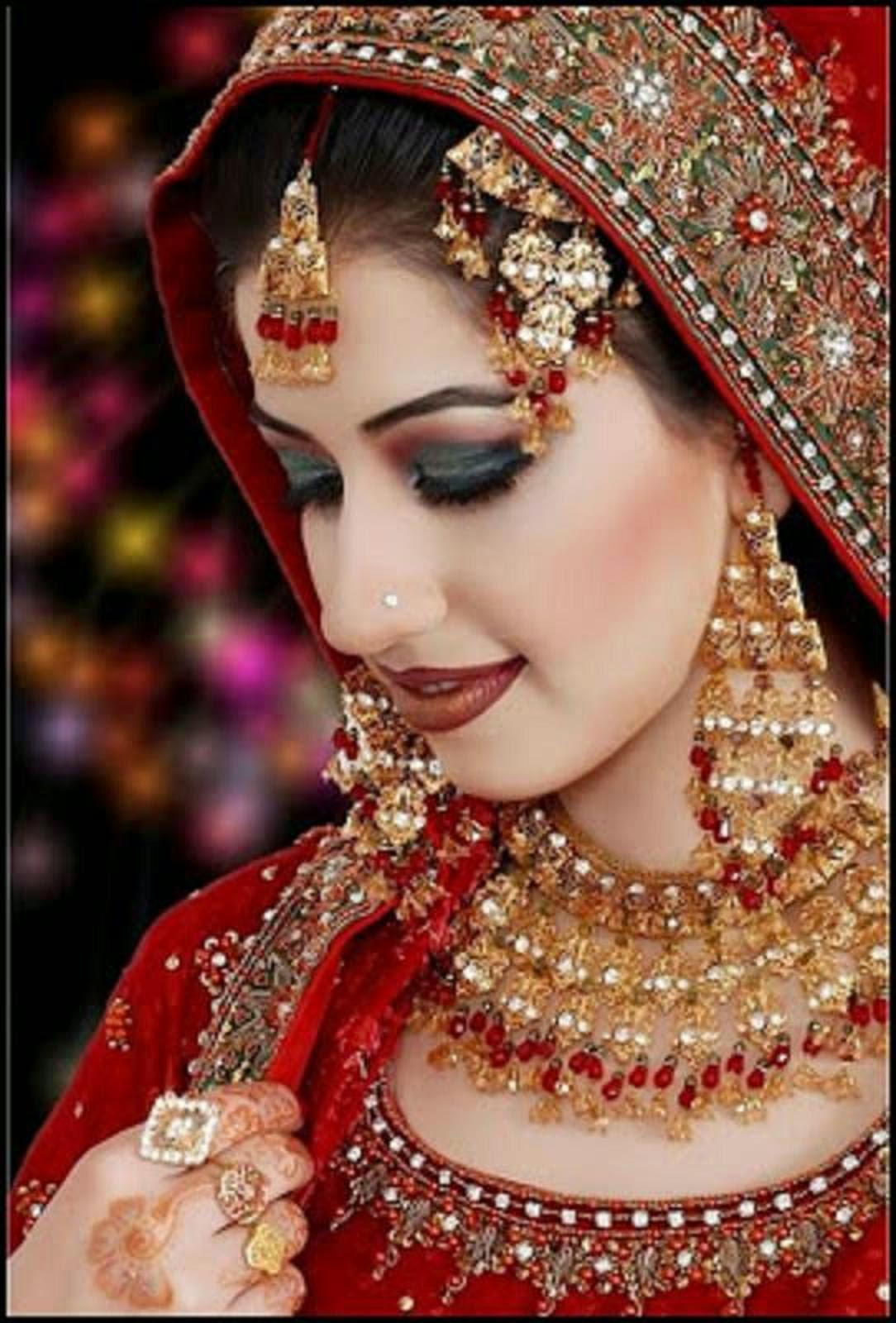 hd bride wallpaper : indian bridal look