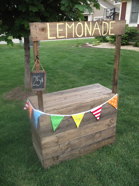 Sunshine on the inside our lovely lemonade stand for How to build a lemonade stand on wheels