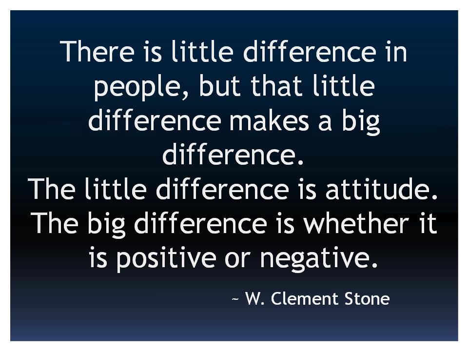 W Clement Stone Positive Attitude
