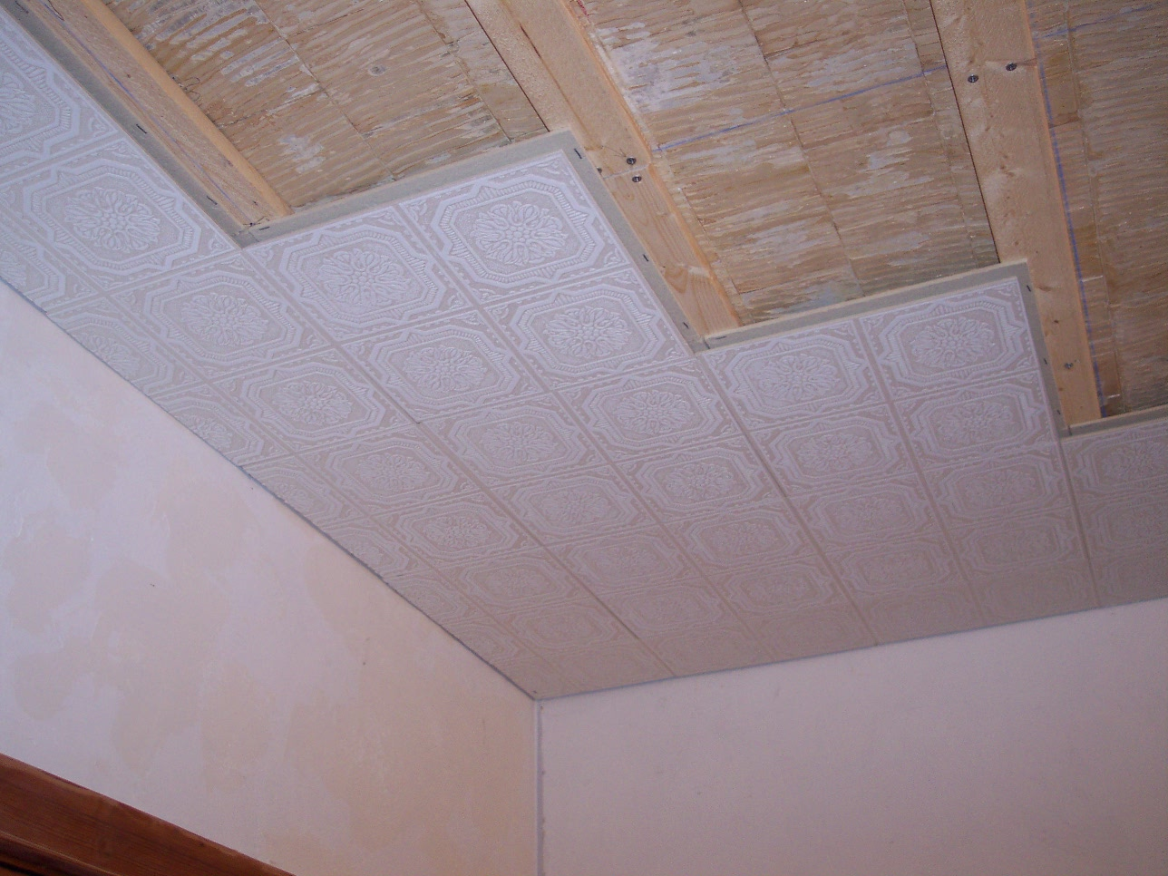 How to install ceiling tile - Kitchen Remodeling Install Armstrong Wellington Ceiling Tiles