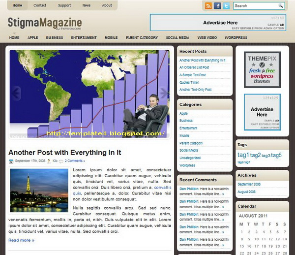 StigmaMagazine WordPress Theme