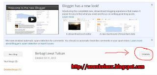 gimana mau balikin blog yang dihapus