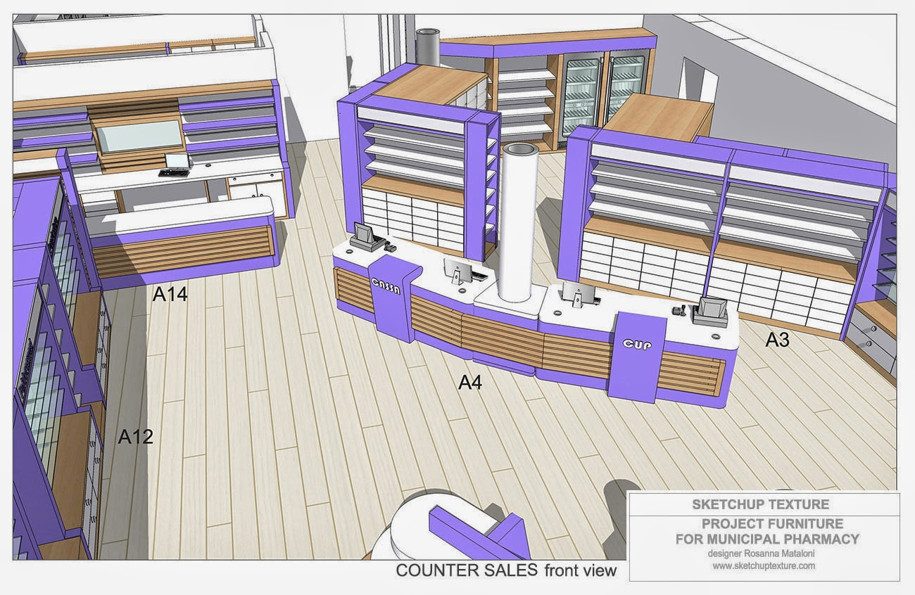 Sketchup texture how to design a modern pharmacy 3d Pharmacy floor plans