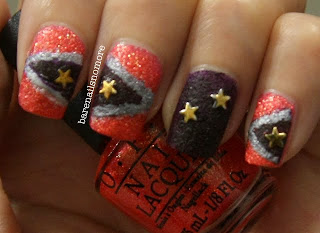 OPI Jinx and Vesper from Bond Girls collection and star studs