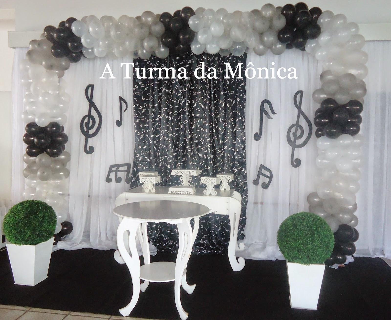 decoracao festa notas musicais:Turma da Mônica Festas: DECORAÇÃO NOTAS MUSICAIS