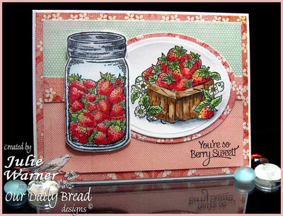 Stamps - Our Daily Bread Designs Canning Jar Fillers, Blue Ribbon Winner, Strawberries, ODBD Custom Canning Jars Die