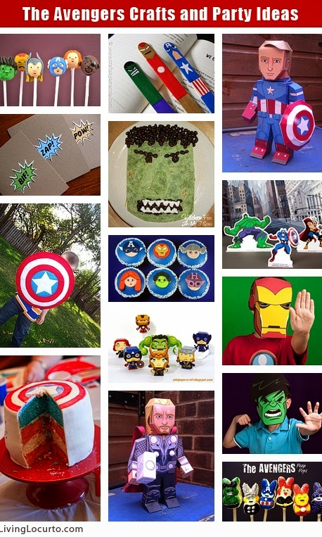 Fun craft ideas for kids birthday party avengers