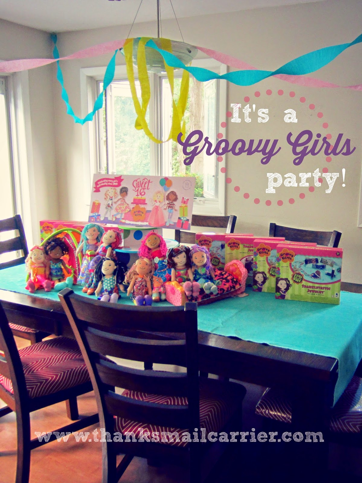 Groovy Girls party setup