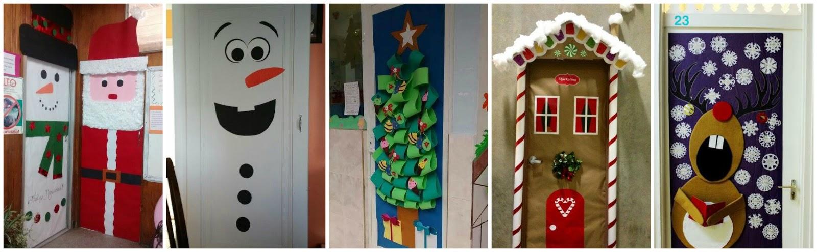 Tocando mis sue os inspiraci n para navidad rrr for Fotos de puertas decoradas de navidad