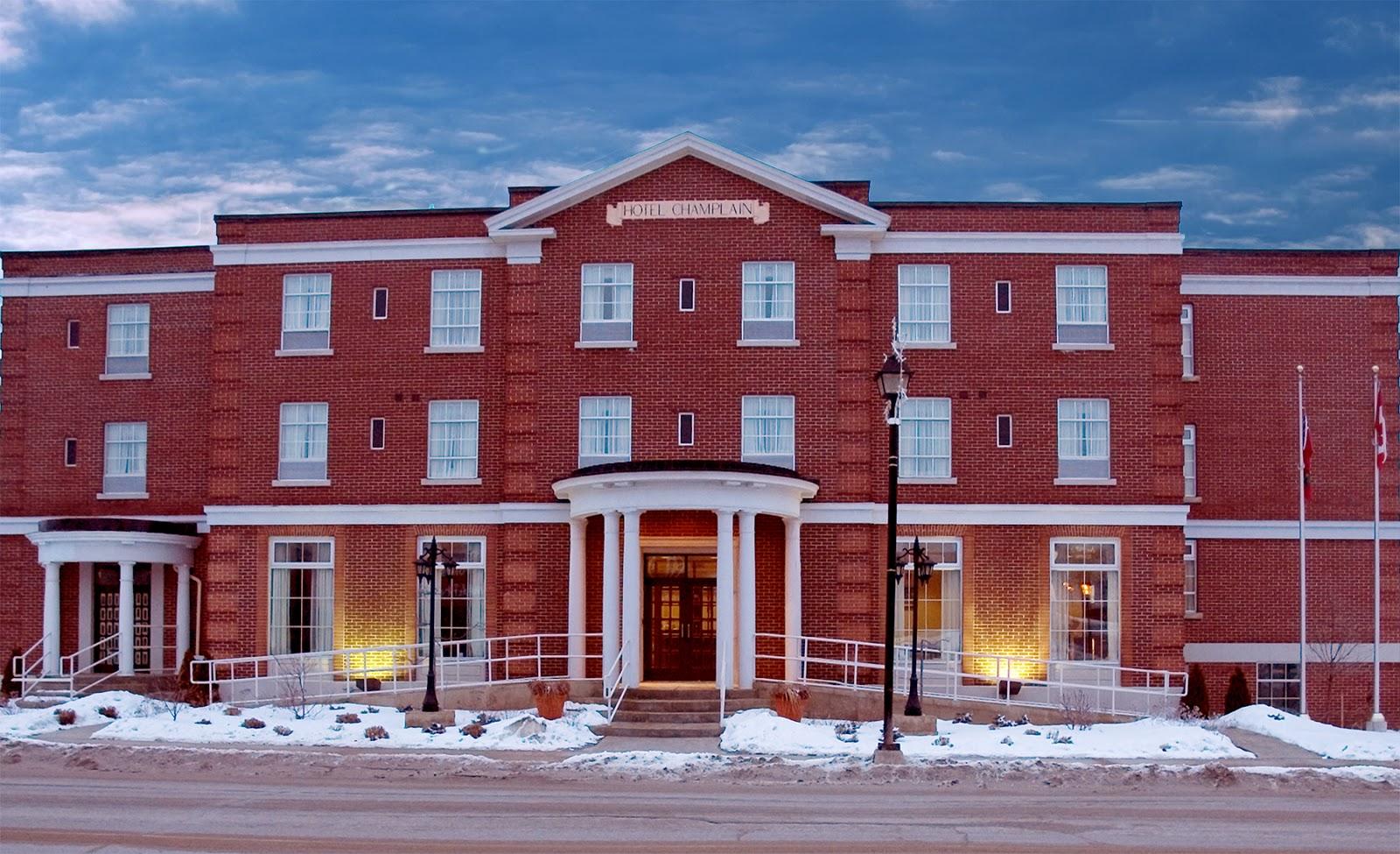 "The old ""Champlain"" Hotel in Orillia."