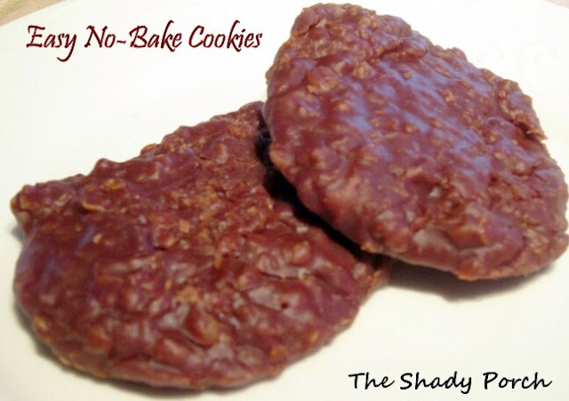 Easy No Bake Cookies by The Shady Porch