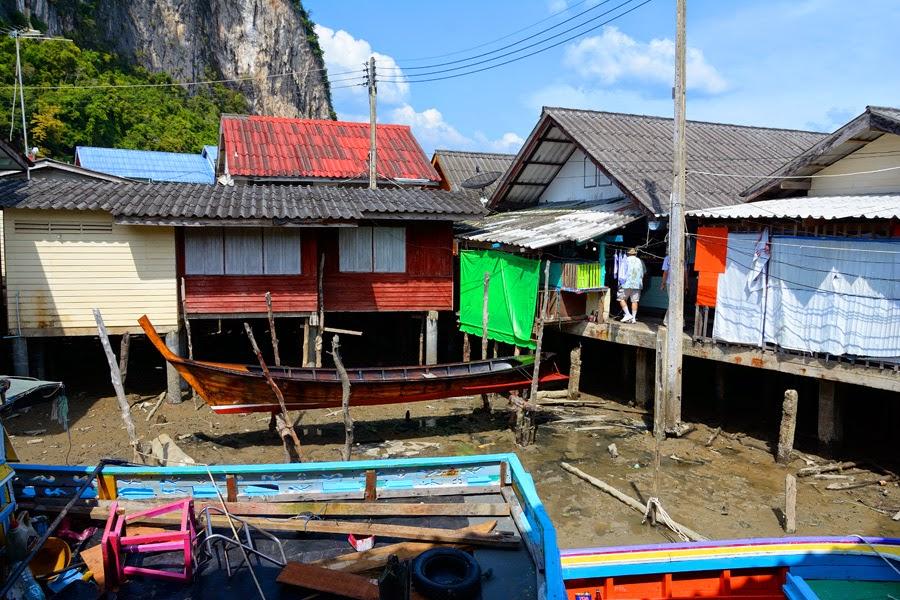 wioska na palach w tajlandii