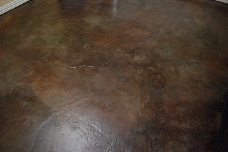 Spirit suds our floor fix acrylic concrete stain for Best wax for stained concrete floors
