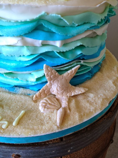 Sweet Ts Cake Design Beach Themed Birthday Cake