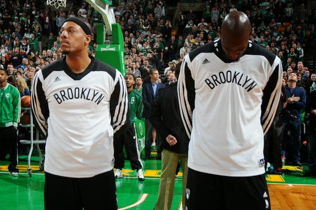 Paul Pierce and Kevin Garnett return to Boston