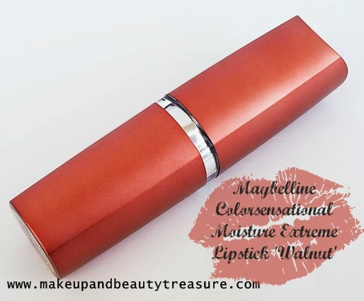 Maybelline Colorsensational Moisture Extreme Lipstick in Walnut Review