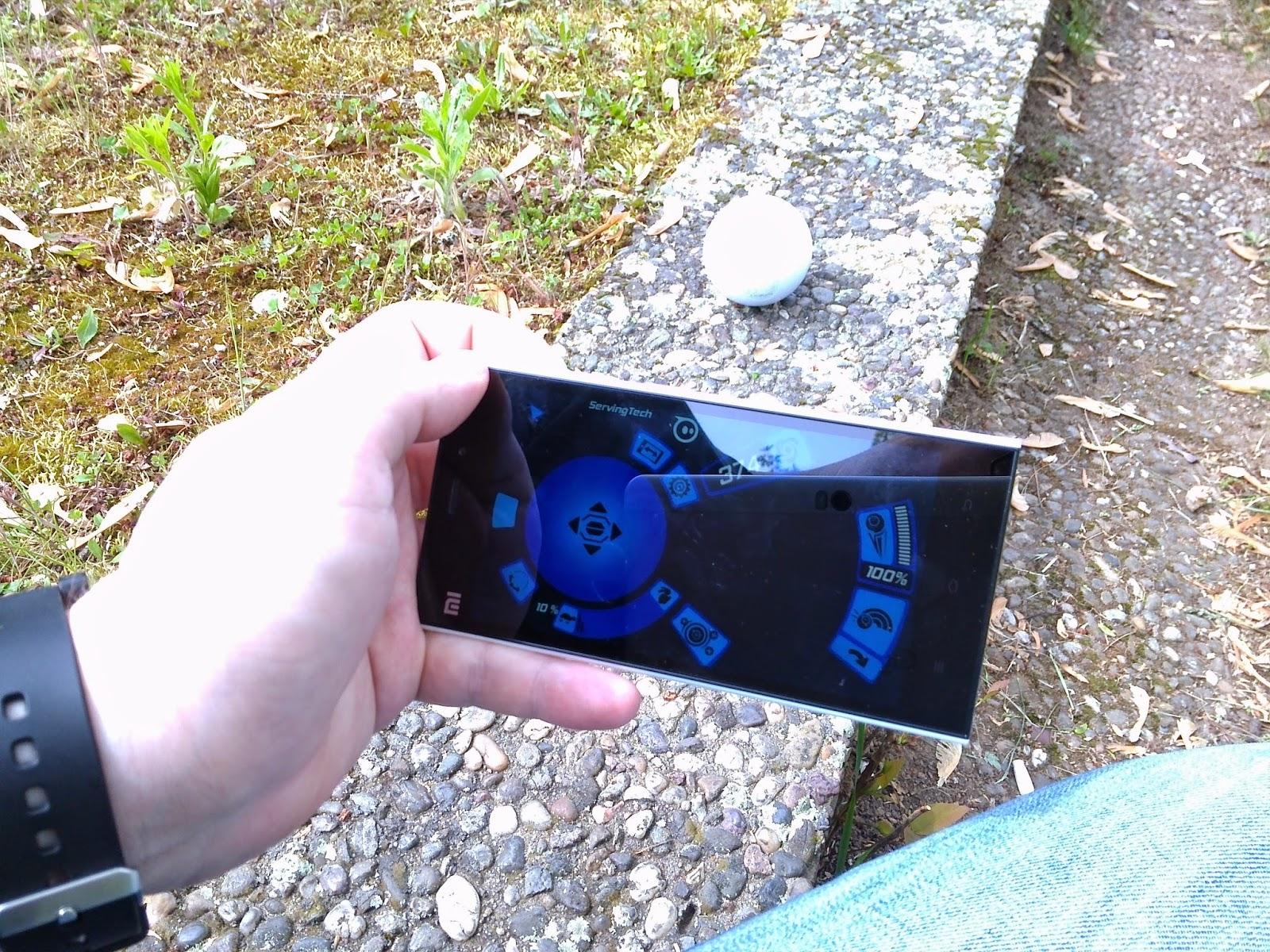 Gapder Schraube für GoPro blau