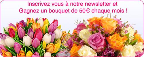 Jeu concours Arena Fleurs: un bouquet de fleurs chaque mois à gagner