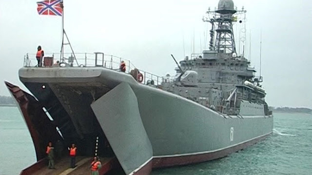 A ship of the Russian Black Sea Fleet