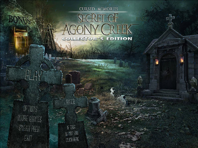 Cursed Memories: The Secret of Agony Creek Collector's Edition Main Menu