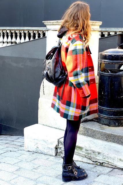 LFW orange tarten coat spring trend