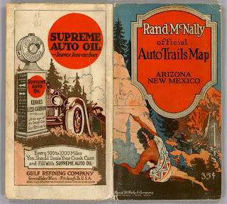 Cover to a Vintage Road trip Map