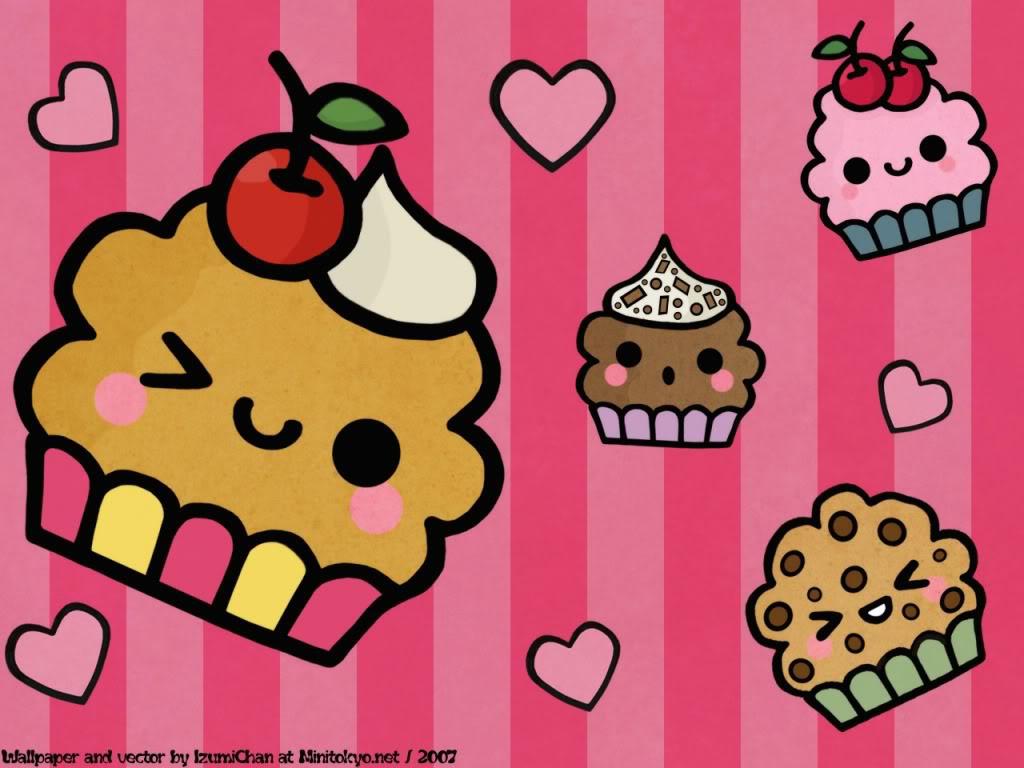 Cartoon Cupcake Wallpaper - Cartoon Wallpaper
