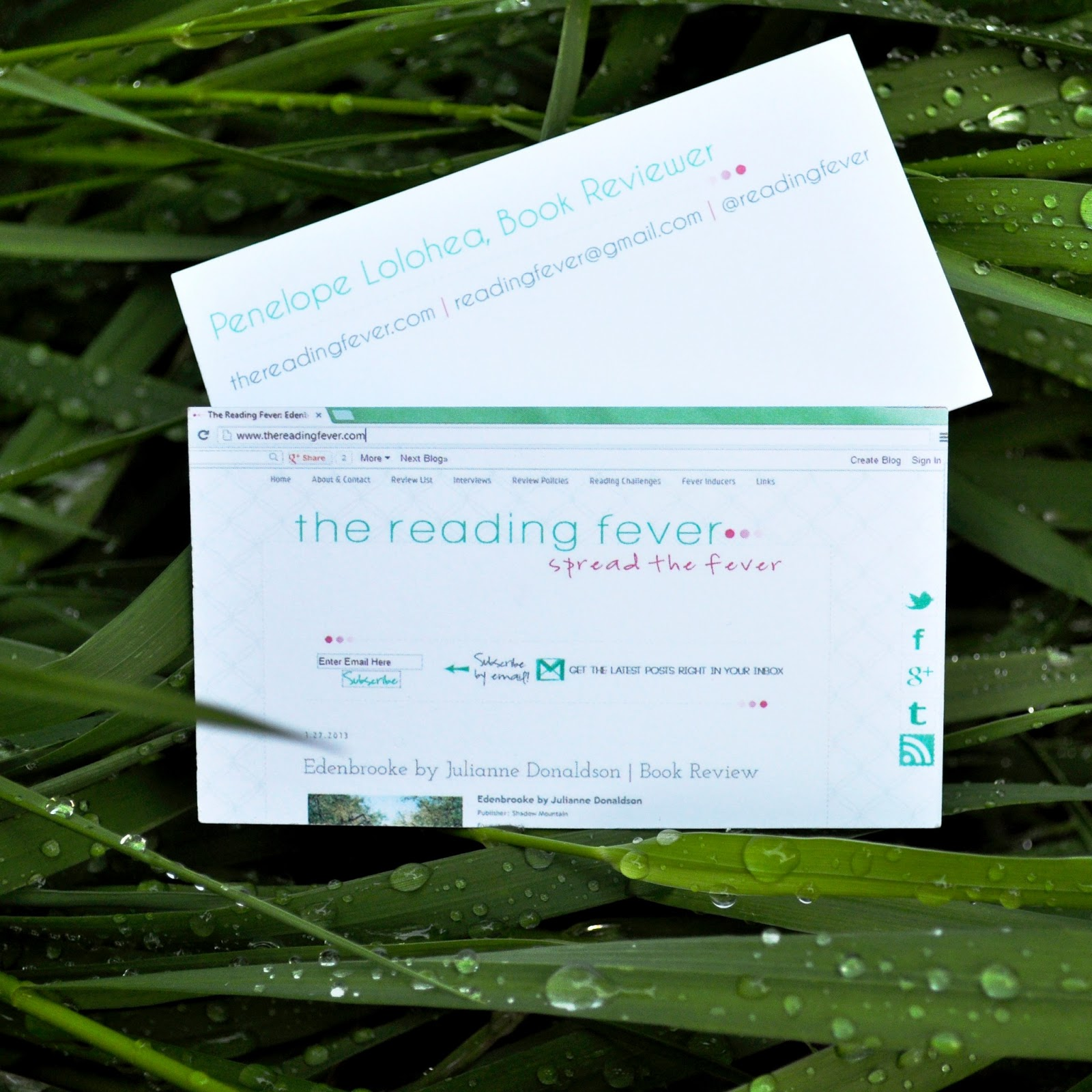 The Reading Fever BEA My New Business Card