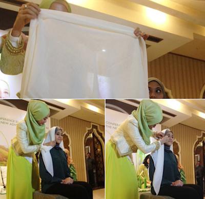 Tutorial Hijab Laudya Cynthia Bella