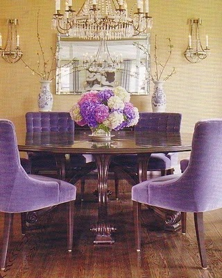 Marie antoinette interiors 2014 color of the year for Wild orchid furniture