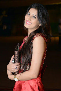 Actress Sabha Picture Gallery in Red Dress at Bunny n Cherry Audio Launch Function 0015.jpg