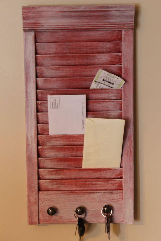 cabideiro porta cartas reutilize madeira