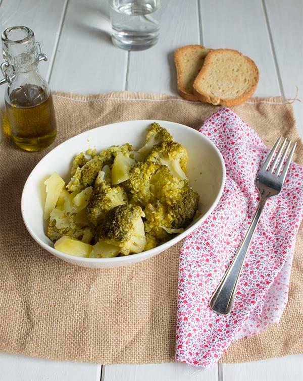 brocoli cocido con patatas