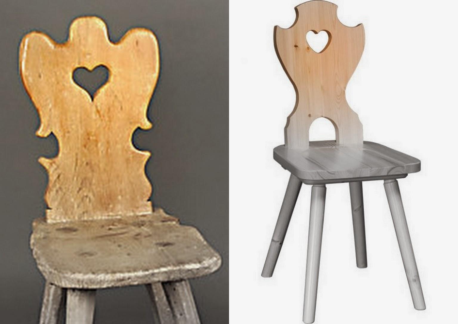 un CUORE da una sedia ... decorato e addobbato con una rosa