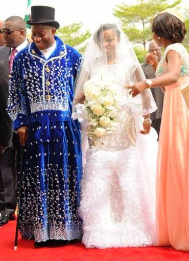 Photos from President Jonathan's daughter's white wedding