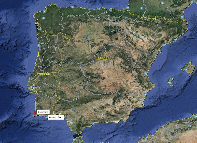 ubicación de Bordeira, Portugal