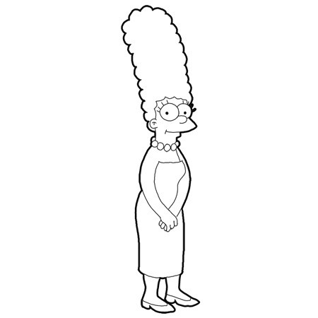 cartoons coloring pages marge simpsons coloring pages - Simpsons Halloween Coloring Pages