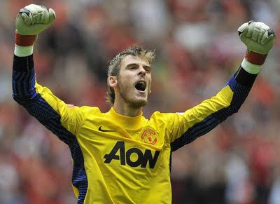 David De Gea Manchester United v Manchester City Community Shield