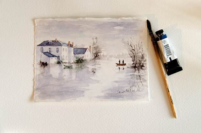 Loire valley watercolour